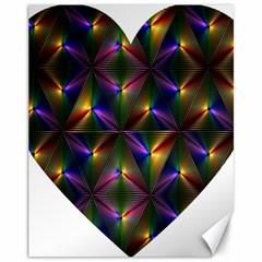 Heart Love Passion Abstract Art Canvas 11  X 14   by Simbadda