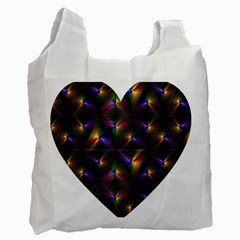 Heart Love Passion Abstract Art Recycle Bag (two Side)  by Simbadda