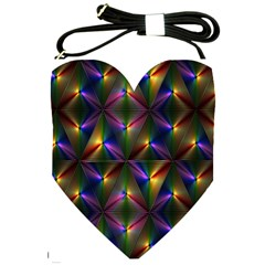 Heart Love Passion Abstract Art Shoulder Sling Bags by Simbadda