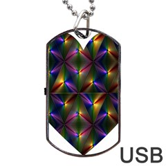 Heart Love Passion Abstract Art Dog Tag Usb Flash (one Side) by Simbadda