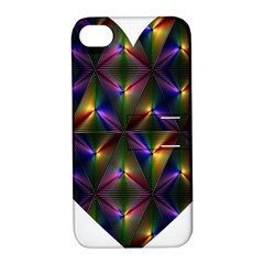 Heart Love Passion Abstract Art Apple Iphone 4/4s Hardshell Case With Stand