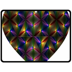 Heart Love Passion Abstract Art Double Sided Fleece Blanket (large)  by Simbadda