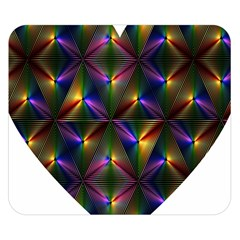 Heart Love Passion Abstract Art Double Sided Flano Blanket (small)  by Simbadda