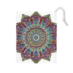 Mandala Decorative Ornamental Drawstring Pouches (large)