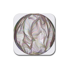 Abstract Geometric Line Art Rubber Coaster (square)