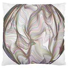 Abstract Geometric Line Art Large Cushion Case (one Side)