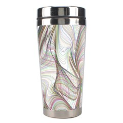 Abstract Geometric Line Art Stainless Steel Travel Tumblers