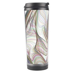 Abstract Geometric Line Art Travel Tumbler