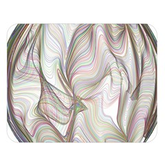 Abstract Geometric Line Art Double Sided Flano Blanket (large)