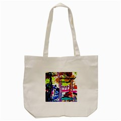 Walk With A Dog 1/1 Tote Bag (cream) by bestdesignintheworld