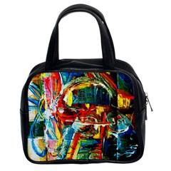Red Aeroplane 1 Classic Handbags (2 Sides) by bestdesignintheworld