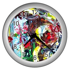 Eden Garden 3 Wall Clocks (silver)  by bestdesignintheworld
