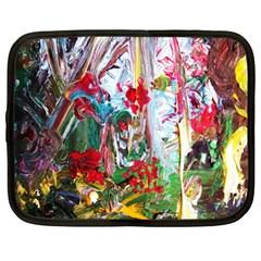 Eden Garden 2 Netbook Case (large) by bestdesignintheworld