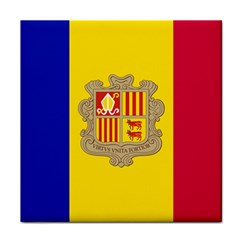 National Flag Of Andorra  Tile Coasters
