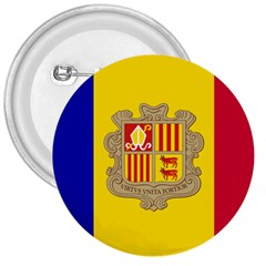 National Flag Of Andorra  3  Buttons