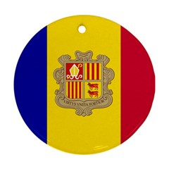 National Flag Of Andorra  Ornament (round)