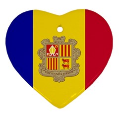 National Flag Of Andorra  Ornament (heart)