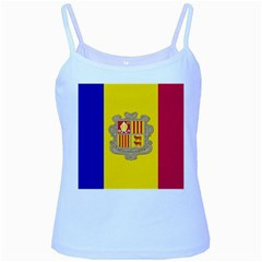 National Flag Of Andorra  Baby Blue Spaghetti Tank