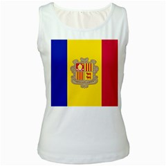 National Flag Of Andorra  Women s White Tank Top