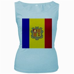 National Flag Of Andorra  Women s Baby Blue Tank Top