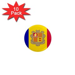 National Flag Of Andorra  1  Mini Magnet (10 Pack)