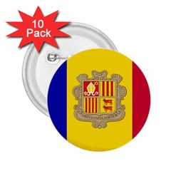 National Flag Of Andorra  2 25  Buttons (10 Pack)