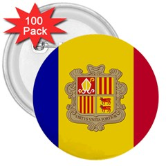 National Flag Of Andorra  3  Buttons (100 Pack)