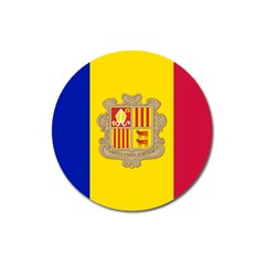 National Flag Of Andorra  Magnet 3  (round)