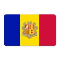National Flag Of Andorra  Magnet (rectangular)