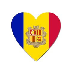 National Flag Of Andorra  Heart Magnet