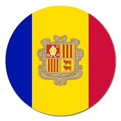 National Flag Of Andorra  Magnet 5  (round)