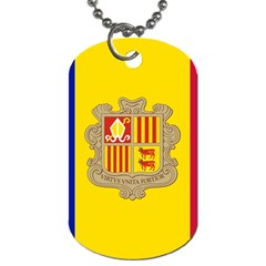 National Flag Of Andorra  Dog Tag (one Side)