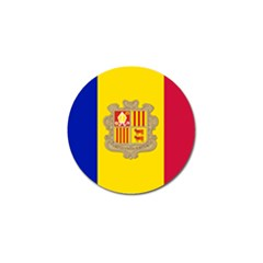 National Flag Of Andorra  Golf Ball Marker