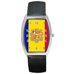 National Flag Of Andorra  Barrel Style Metal Watch