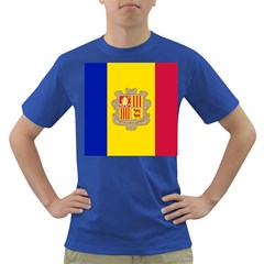 National Flag Of Andorra  Dark T Shirt