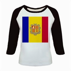 National Flag Of Andorra  Kids Baseball Jerseys