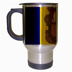 National Flag Of Andorra  Travel Mug (silver Gray)