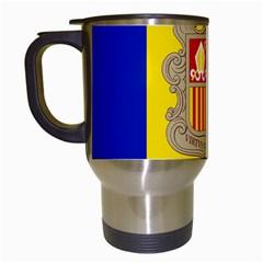 National Flag Of Andorra  Travel Mugs (white)