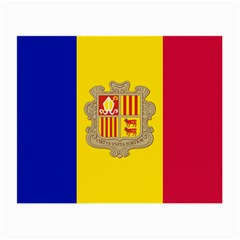 National Flag Of Andorra  Small Glasses Cloth