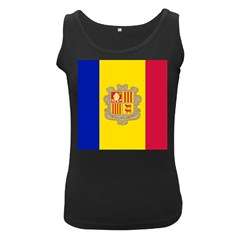 National Flag Of Andorra  Women s Black Tank Top