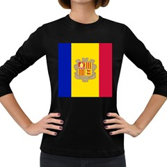 National Flag Of Andorra  Women s Long Sleeve Dark T Shirts by abbeyz71