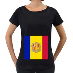 National Flag Of Andorra  Women s Loose Fit T Shirt (black)