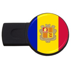 National Flag Of Andorra  Usb Flash Drive Round (4 Gb)