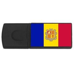 National Flag Of Andorra  Rectangular Usb Flash Drive