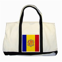 National Flag Of Andorra  Two Tone Tote Bag