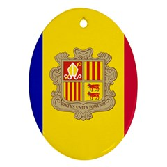 National Flag Of Andorra  Oval Ornament (two Sides)
