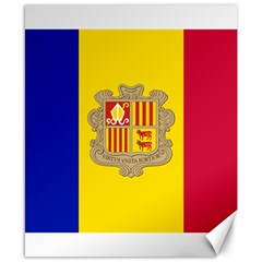 National Flag Of Andorra  Canvas 8  X 10