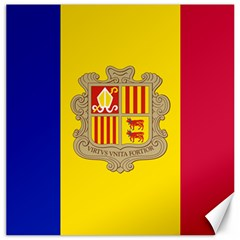National Flag Of Andorra  Canvas 12  X 12