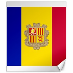 National Flag Of Andorra  Canvas 20  X 24