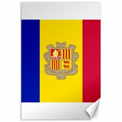 National Flag Of Andorra  Canvas 20  X 30